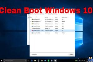 فعال سازی Clean boot در ویندوز