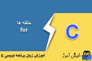 آموزش زبان C : حلقه for