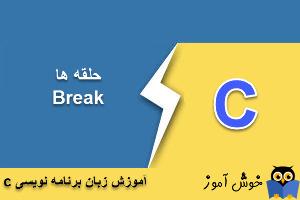 آموزش زبان C : خاتمه ناگهانی حلقه با دستور Break