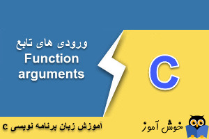 آموزش زبان C : ورودی های تابع (Function arguments)