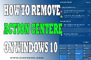 مخفی کردن action center در ویندوز 10