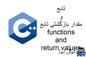 آموزش زبان ++C : مروری بر توابع و مقدار بازگشتی توابع (functions and return values)