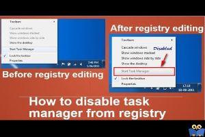 فعال یا غیرفعال کردن Task manager در ویندوز