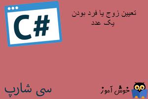 آموزش زبان #C : تعیین زوج یا فرد بودن یک عدد