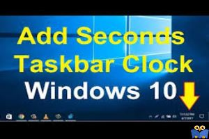نمایش ثانیه کنار ساعت در ویندوز