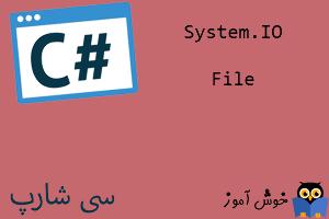 آموزش زبان #C : کار با فایلهای متنی با کلاس System.IO.File
