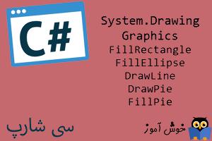 آموزش زبان #C : ترسیم شکل های گرافیکی بیشتر به صورت توپر