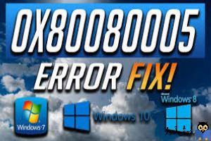 برطرف کردن ارور Update Error 0x80080005