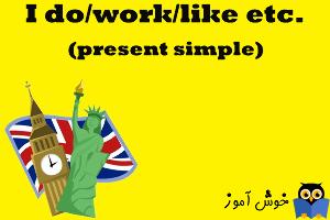 آموزش گرامر انگلیسی : I do. present simple - تمرین 1