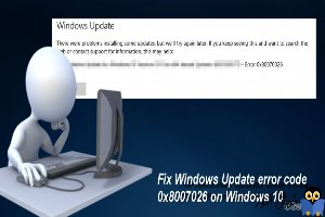 برطرف ارور Windows Update Error 0x80070026