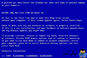 برطرف کردن ارور بلواسکرین (DRIVER_IRQL_NOT_LESS_OR_EQUAL (error code 0x000000D1