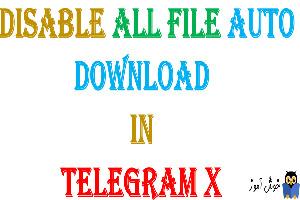 غیرفعال کردن دانلود خودکار انواع فایل ها در تلگرام X
