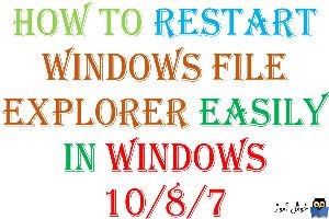 آموزش ریستارت کردن Windows Explorer در ویندوز 7/8/10