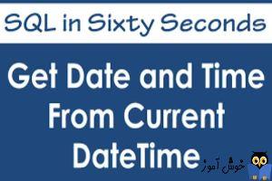 نمایش ساعت،دقیقه و ثانیه در SQL Server