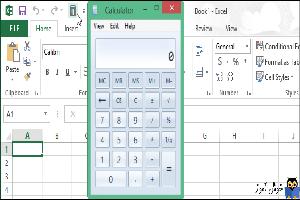 اضافه کردن ماشین حساب ویندوز به نوار ابزار اکسل