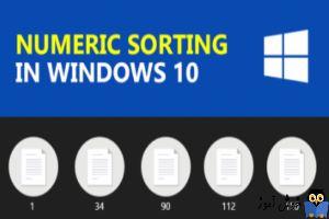 غیرفعال کردن Sort عددی در مرتب سازی فایل ها و فولدرها در ویندوز