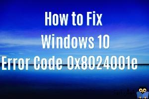 برطرف کردن ارور Error code 0x8024001e در Windows Store
