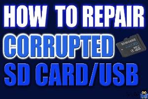 تعمیر و رفع خرابی SD Card در ویندوز