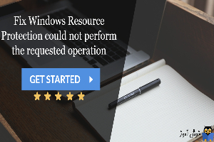 رفع ارور Windows Resource Protection could not start the repair service