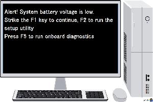 رفع ارور System battery voltage is low