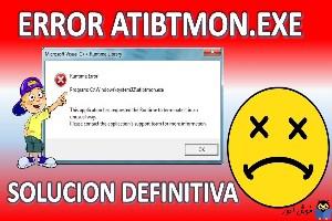 رفع ارور Atibtmon.exe Runtime Error
