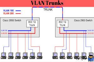 نحوه ایجاد VLAN Trunk و مشخص کردن Vlan های مجاز برای عبور از Trunk در سوئیچ سیسکو