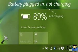 رفع مشکل Plugged in, not charging هنگام شارژ در لب تاپ