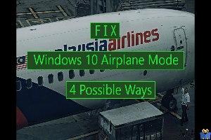 گیر کردن ویندوز در حالت Airplane Mode