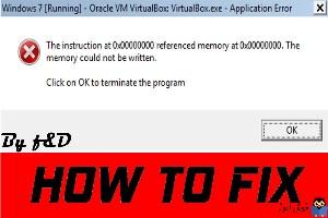 رفع ارور the instruction at referenced memory at 0x00 referenced memory at 0x00
