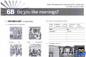 Workbook: 6B Do you like mornings