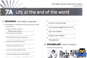 Workbook: 7A Life at the end of the world