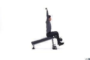 حرکت Decline bar press sit-up