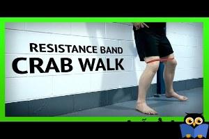 حرکات تمرینی با کش-حرکت Band Crab Walk