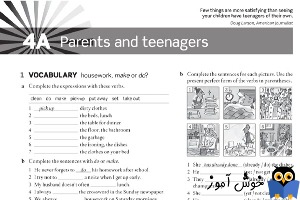Workbook: 4A Parents and teenagers