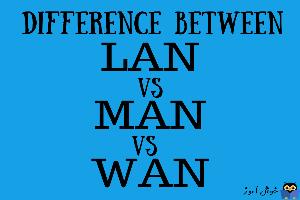 بررسی تفاوت های LAN، MAN و WAN