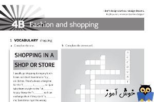 Workbook: 4B Fashion and shopping