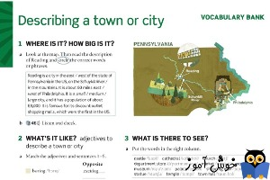 Describing a town or city